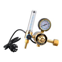2017 hot new products brass co2 regulator heater