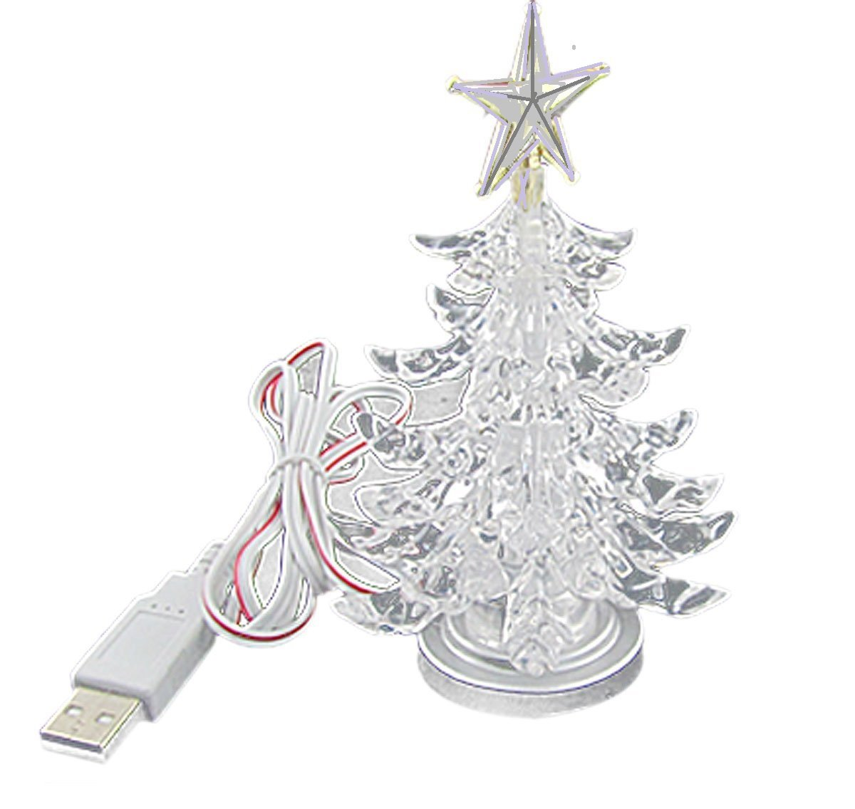 get quotations usb powered miniature christmas tree multicolor leds led christmas tree
