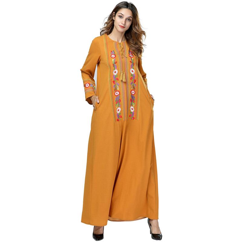 Abaya DI DUBAI Pakaian untuk Wanita NIDA Muslim Dress Muslim Abaya Jilbab Djellaba Jubah