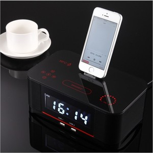 S-A8i excellent sound quality Blue tooth docking speaker station with dual alarm FM radio