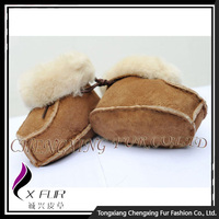 CX-SHOES-05A Hot Sale Fashion Sheepskin Baby Wool Shoes/ Handmade Wool Felt Baby Shoes