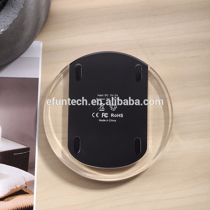 Travel Hot Sale Mini Gift Best Manual High Quality wireless phone Charger for Samsung galaxsy S6