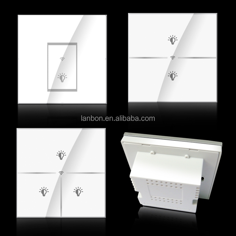 Touch Screen Wifi Light Wall Switches For Smart Home Beyond Zigbee ...