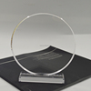 round shaped blank clear acrylic trophy design / PMMA award