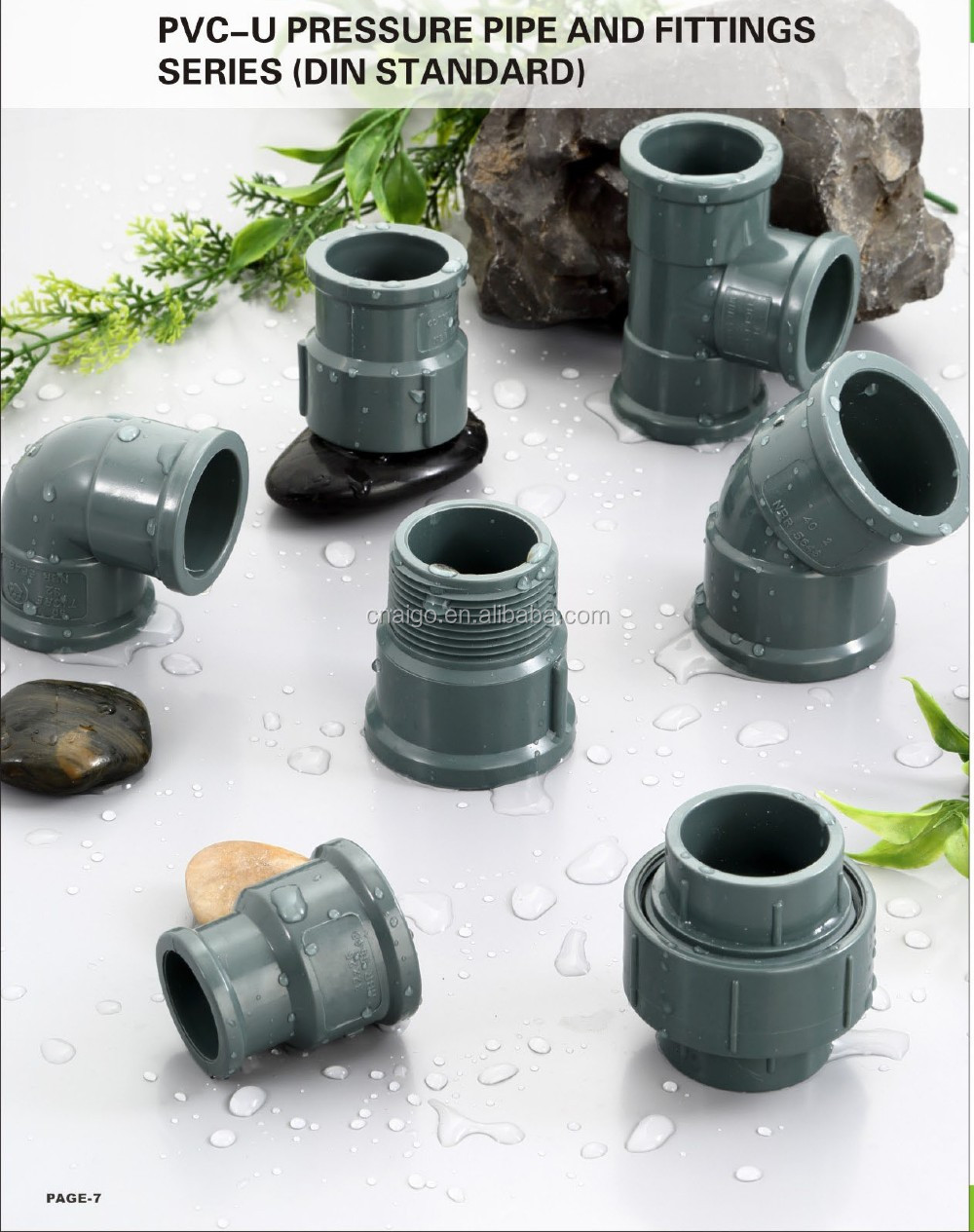 Pvc astm standard water supply pipe fitting reducing