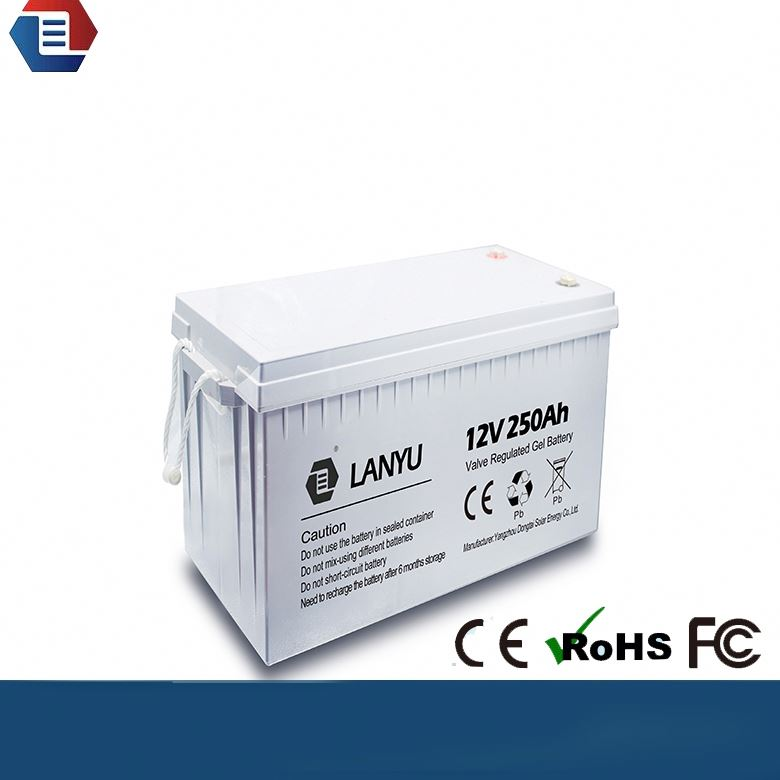 Manufacture VRLA 12v 250AH Battery Gel Electric Power Accumulator