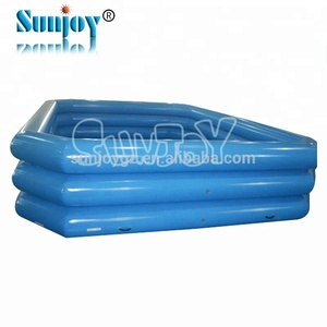 Giant commercial inflatable swimming pool with slide inflatable water pool for kids and adults large inflatable swimming pool
