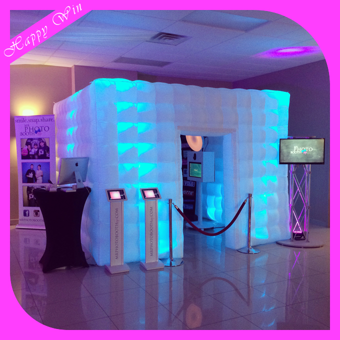 Inflatable Led Photo Shell Used Wedding Decoration Props Photo Booth with Camera