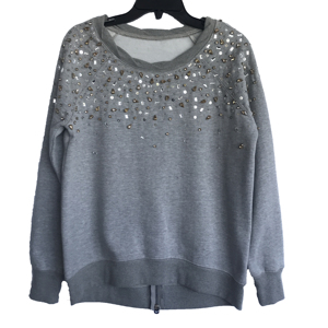 Winter New Arrival Women Casual Cotton/Polyester CVC Brushed Hand Sewn Sweater
