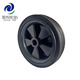 5 inch garden tool cart wheels/small wheel black for wine cart