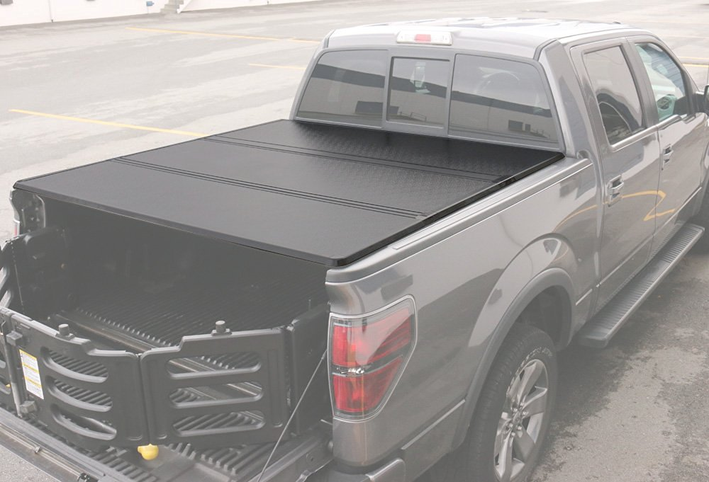 Ford F-150 Supercrew Cab 5.5Ft Short Bed 2004-2014 Hard Tri-Fold Tonneau Cover