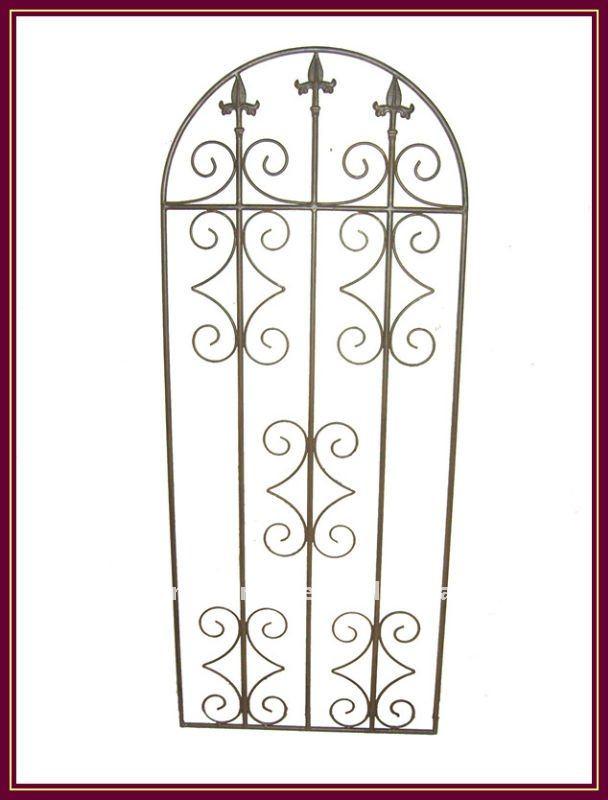 treillis m tallique en fer forg porte de cl ture panneau treillis d coration de jardin vintage. Black Bedroom Furniture Sets. Home Design Ideas