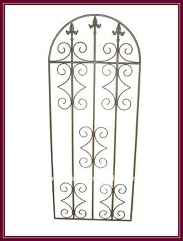 Metal Trellis Wrought Iron Fence Gate Panel Trellis Garden Decor Vintage