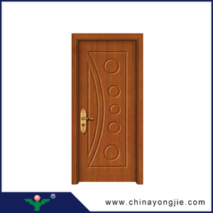 New design popular MDF+Finger joint fir wood+PVC engineer pvc door