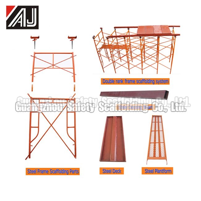 H Type Painted Scaffold Frame For Building Construction