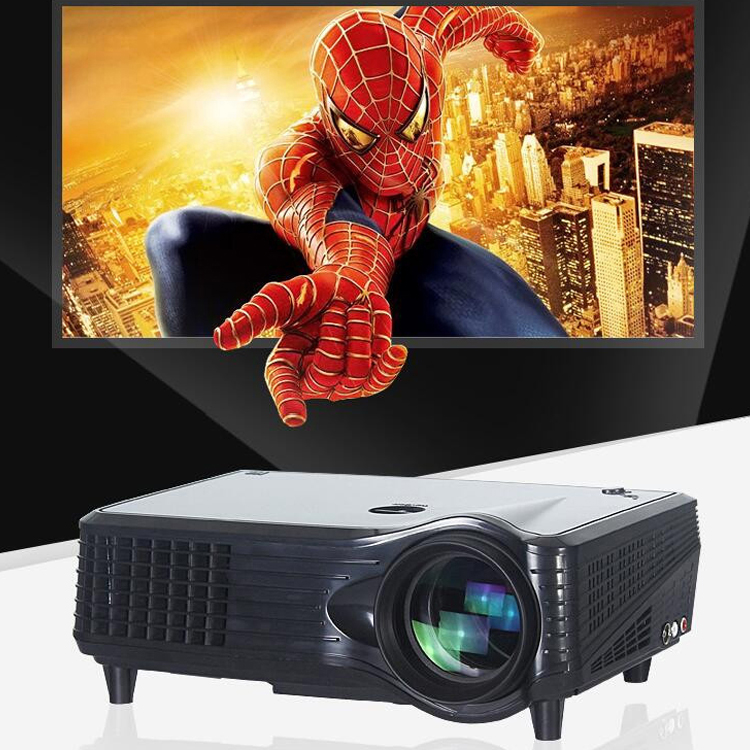 2017 best sale home 4500 lumens high bright led DLP multimedia <strong>projector</strong>