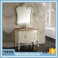 Modern European style design high quality luxury PVC bathroom cabinet