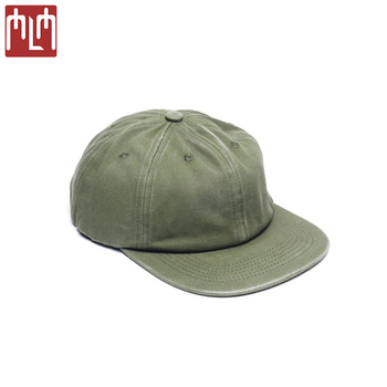 72d35fa9356 Custom 6 Panels Unconstructed Snapback Low Profile Crown Faded Cotton Twill Flat  Bill Caps Hat