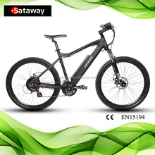 Sataway high quality electric mountain bike e bicycle with hidden battery 2017