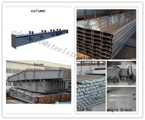 construction buildings prefab design steel fram warehouse