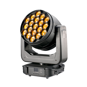 China cheap price dj lighting 19x7in1RGBWA+UV+Lemon 25w led zoom wash moving head bar lights for concert shows