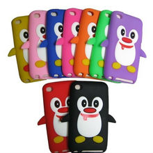 3D Cute Penguin Silicone Soft Case Cover Skin For iPod Touch 4 4TH Gen