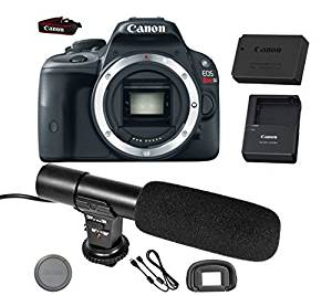 Canon EOS Rebel SL1 DSLR Camera (Body Only) + On-Camera Shotgun Microphone - International Version