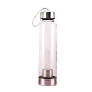Fashion Energy Drink Bottle Glass Energy Crystal Original Stone Creative with Crystal Column Water Bottle