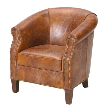 American Vintage Leather Tub Chair - Buy American Vintage Leather ...