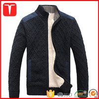 Heavy thick zip cardigan winter sweaters for men