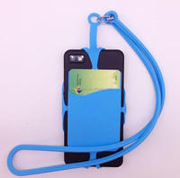 hot item silicone mobile phone strap hang around neck neck lanyard with pocket