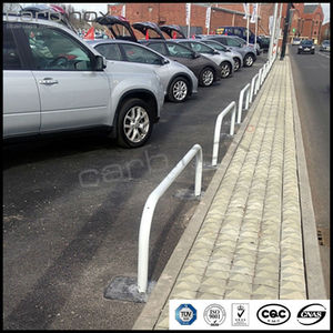 stainless steel hooped perimeter car park protection crash barrier