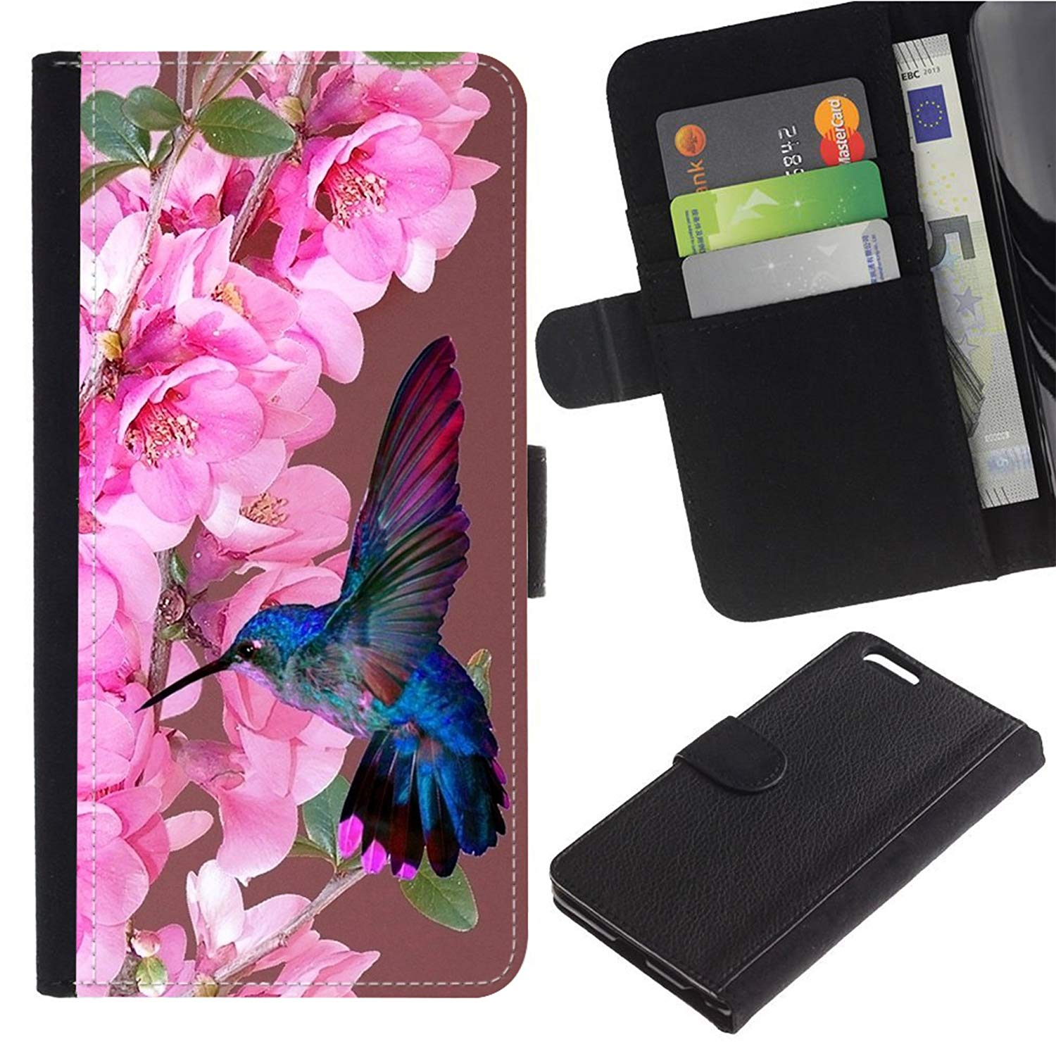 [Hummingbirds And White Pink Orchid Purple] For LG G4/H815 H812 H810 H811 S991 VS986 US991 Flip Leather Wallet Holsters Pouch Skin Case
