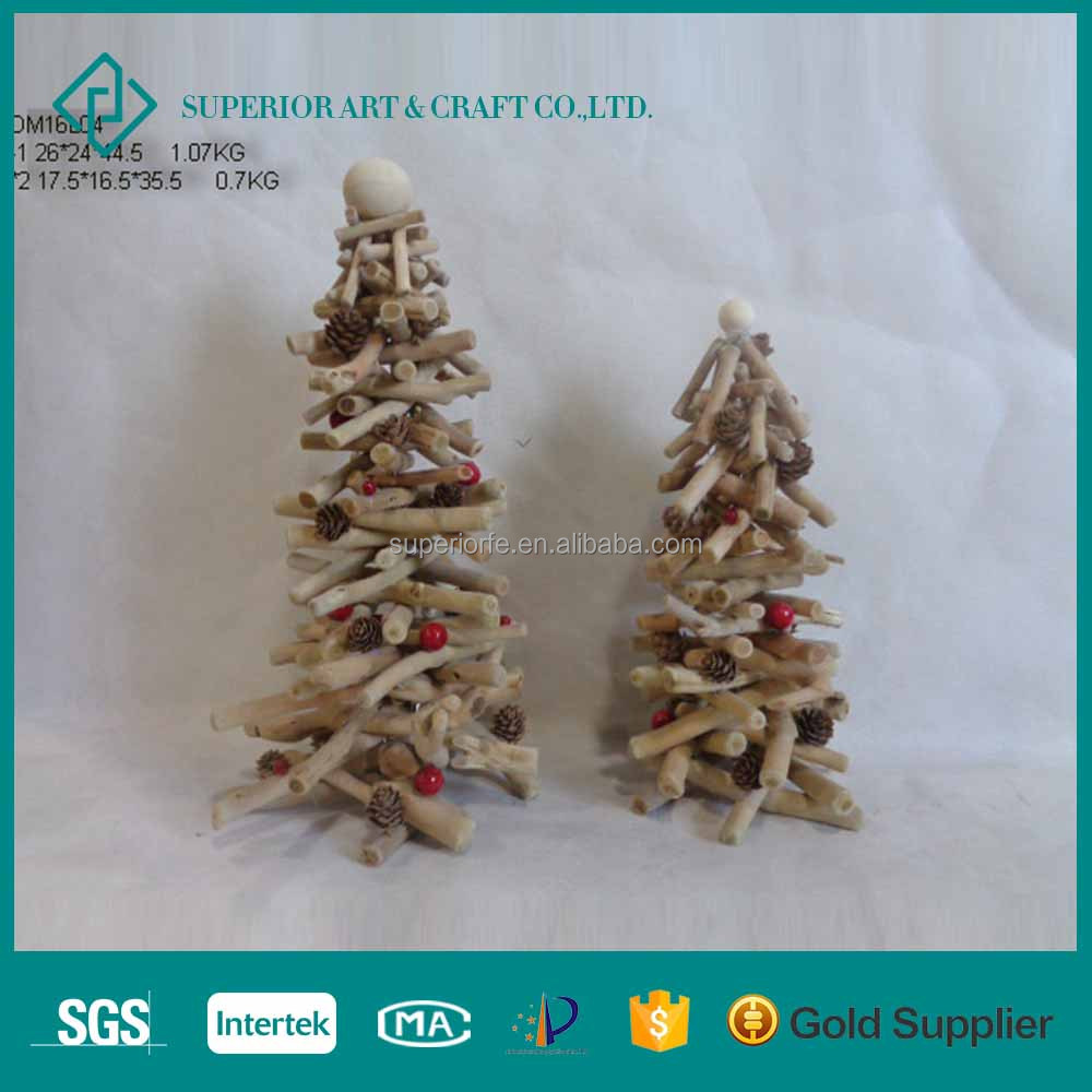 Artificial Wood Made Christmas Tree