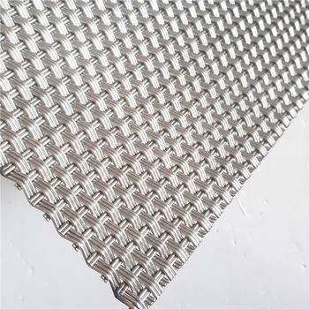 Architectural Decorative Wire mesh Facades With 3D Weave Patterns