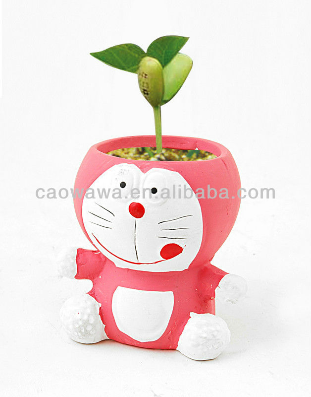 KT cat cartoon animal modelling grass dolls personality presents the beanstalk seed tables and chairs miniature potted ceramic c