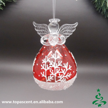 2015 delicate glass hanging christmas angels decorations wholesales from direct factory in china - Hanging Christmas Decorations