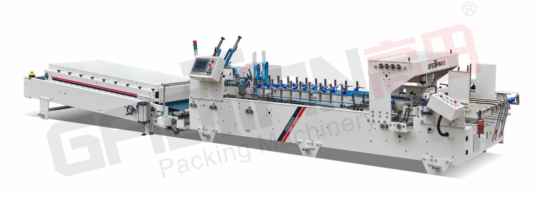 Factory Sale Manufacturer Supply SHH-B2 7KW carton flexo folder gluer machine