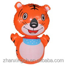 Plastic inflatable cartoon tiger tumbler toy for sale