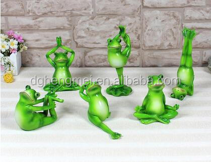 small vivid green frog resin figurine <strong>animals</strong>