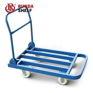 industrial metal hand cart trolley big wheel