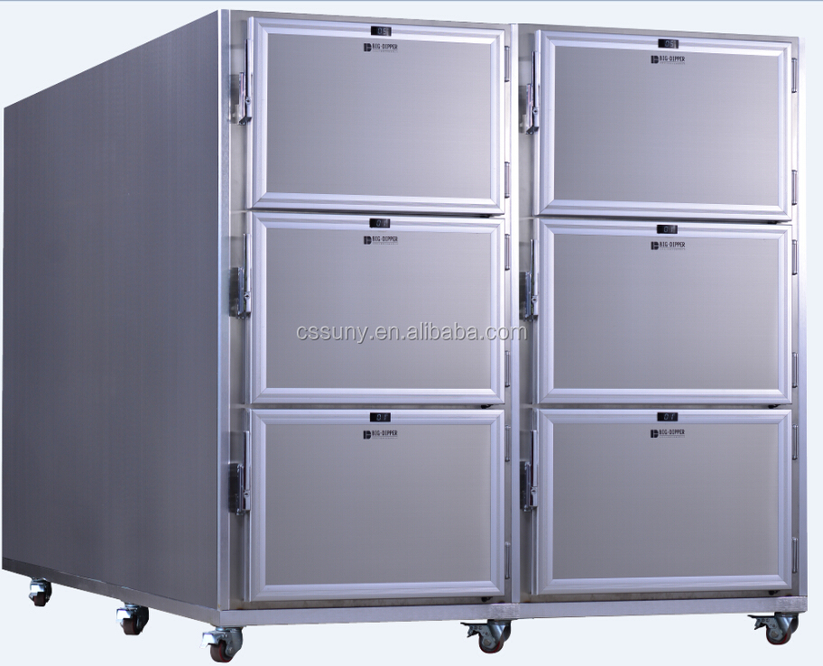 Hot Sale Low Price 6 Bodies Medical Morgue Refrigerator /Mortuary Freezer