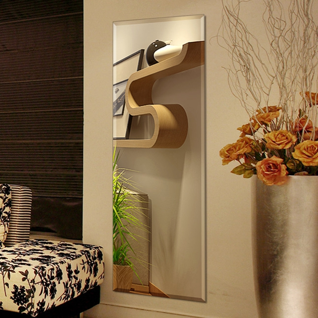 Big Hinged Wall Decoration Mirror Mounted with CE , ISO9001, BV