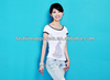 Wide collar body fit design with rhinestone decorated tshirt for girls