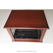 Durable wooden pet cage,metal dog cage