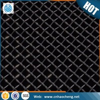 Alibaba plain weave16 mesh black iron wire cloth