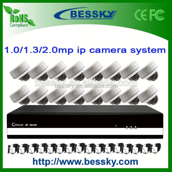 security control room equipment,24ch 1080p cctv nvr,h.265 video server
