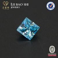 wholesale AAAAA customized size princess cut synthetic cubic zirconia loose diamond