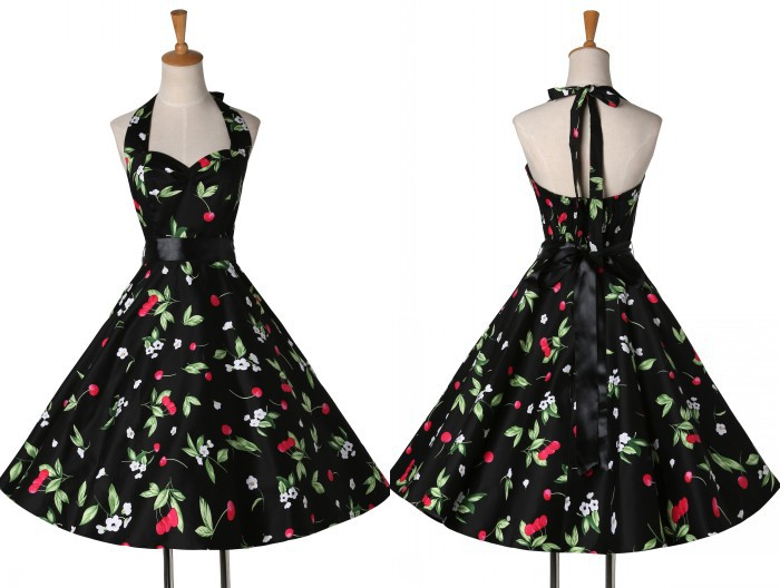 Drop shipping New Summer 2015 grace karin floral print Audrey Hepburn Vintage dress 50s 60s Pin-up Swing Dresses Retro CL006046