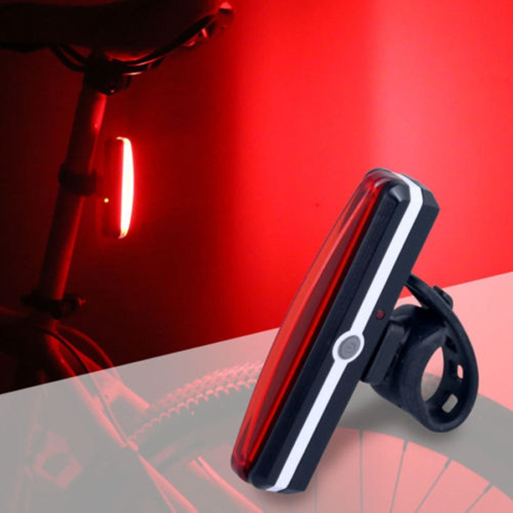 Lefeng Sport LED Rear Bike Light USB Rechargeable - Ultra Bright Powerful Safety Taillight, 6 Light Mode Options, One Touch Mount and Dismount IPX4 Waterproof, for all Bikes